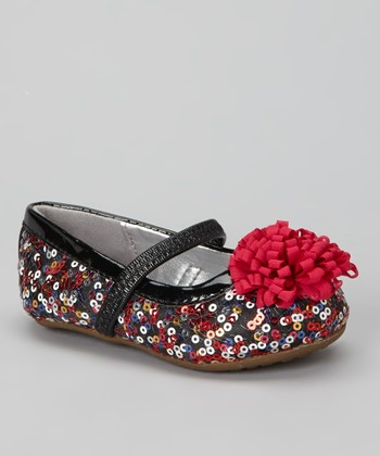 Black & Multi-Color Kenleigh Flat
