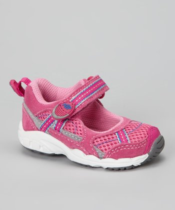 Pink & Gray Made 2 Play™ Baby Robin Mary Jane Sneaker