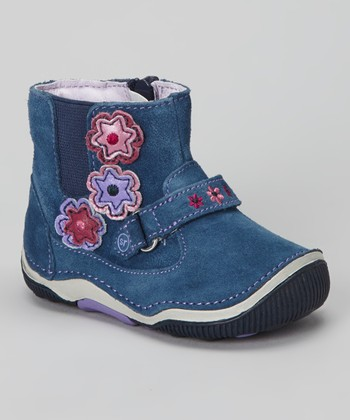 Navy & Purple Merriweather Bootie