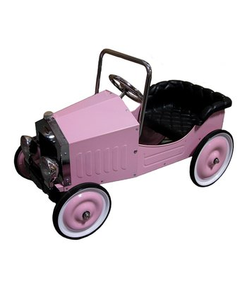 Pink Classic Pedal Car Ride-On