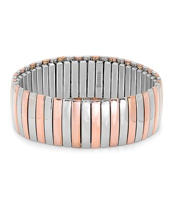 Rose Gold & Silver Stretch Bracelet