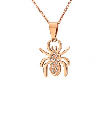 Rose Gold Bug Pendant Necklace