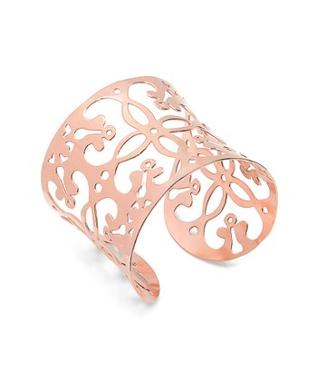 Rose Gold Flower Cutout Cuff