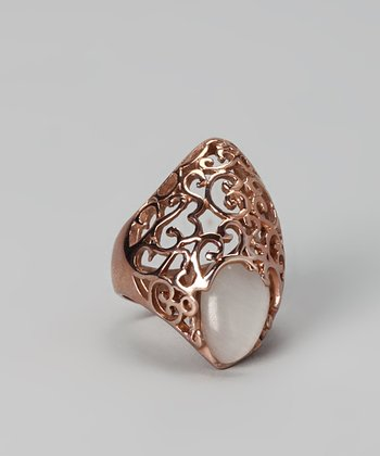 Rose Gold Filigree Cocktail Ring