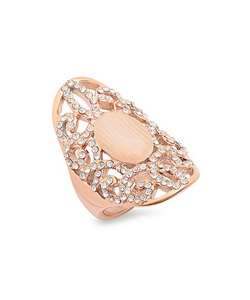 Diamond & Rose Gold Statement Ring