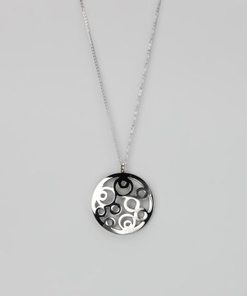 Silver Multi-Circle Pendant Necklace