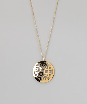 Gold Multi-Circle Pendant Necklace