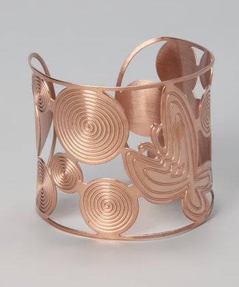 Rose Gold Circular Cutout Cuff