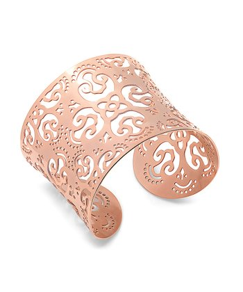 Rose Gold Fancy Filigree Cutout Cuff