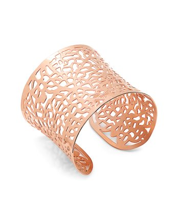 Rose Gold Filigree Cutout Cuff