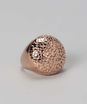 Rose Gold Embossed Cocktail Ring