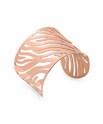 Rose Gold Zebra Cutout Cuff