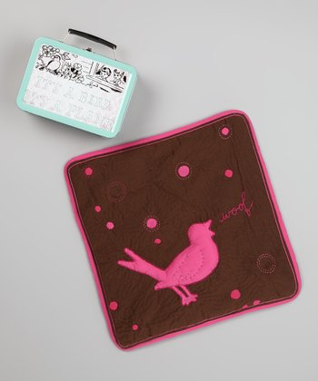 Pink & Brown Snuggle Bird Security Blanket