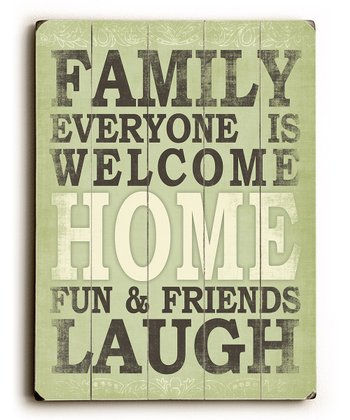 'Family Everyone is Welcome' Wall Art