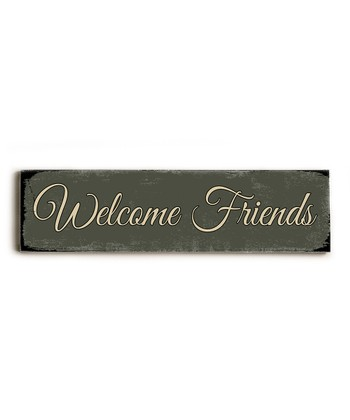 'Welcome Friends' Wall Art