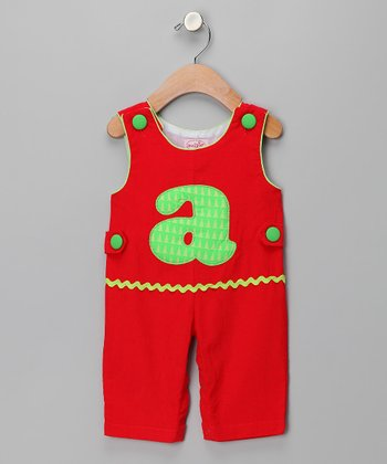 Red 'A' Corduroy Overalls - Infant