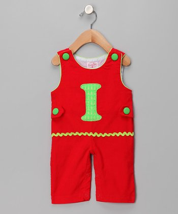 Red 'I' Corduroy Overalls - Infant