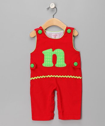 Red 'N' Corduroy Overalls - Infant