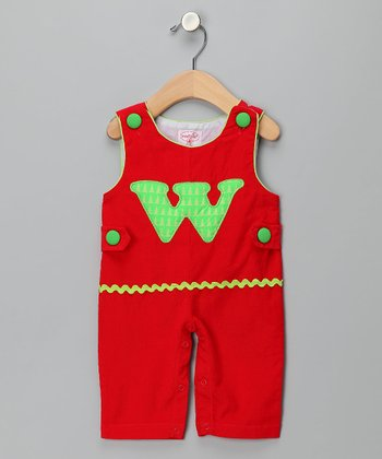 Red 'W' Corduroy Overalls - Infant