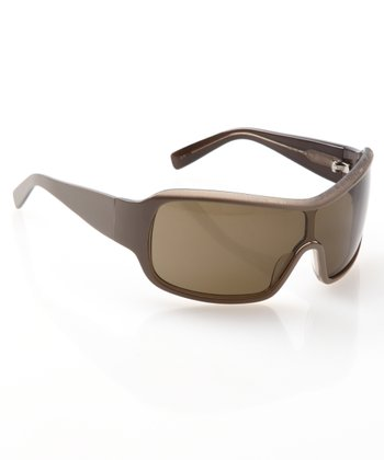 Khaki Shield Sunglasses