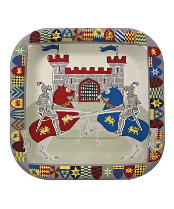 Brave Knights Plate - Set of 24