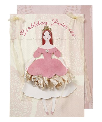 Pink Princess Birthday Card