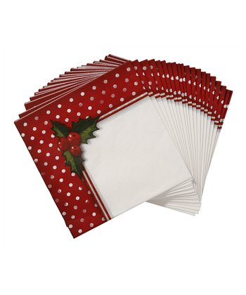 Jolly Holly Napkins set of 20