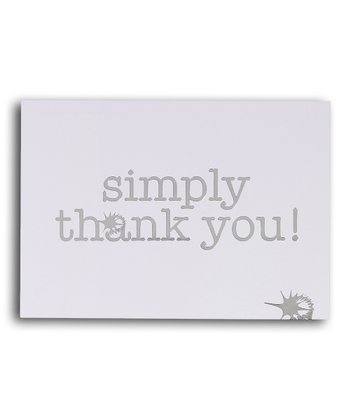 Simply Thank You Cards set of 10