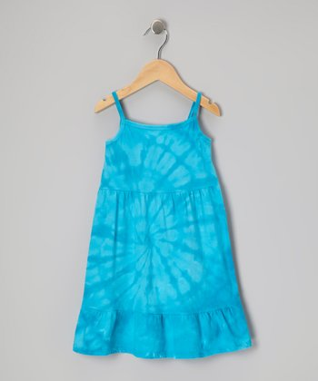 Blue Spider Tie-Dye Dress - Toddler & Girls