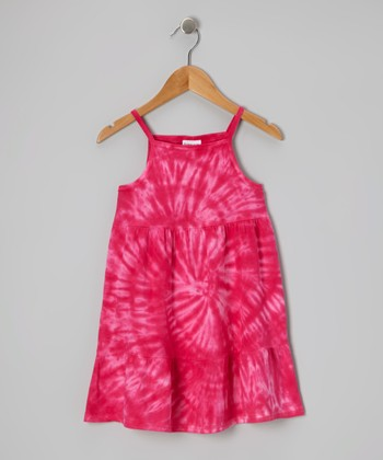 Pink Spider Tie-Dye Dress - Toddler & Girls