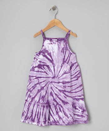 Purple Spider Tie-Dye Dress - Toddler & Girls