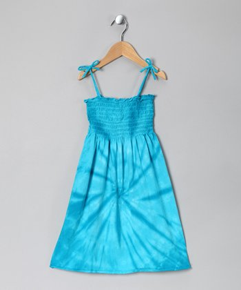 Blue Tie-Dye Sundress - Toddler & Girls