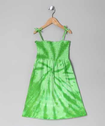 Lime Tie-Dye Sundress - Toddler & Girls