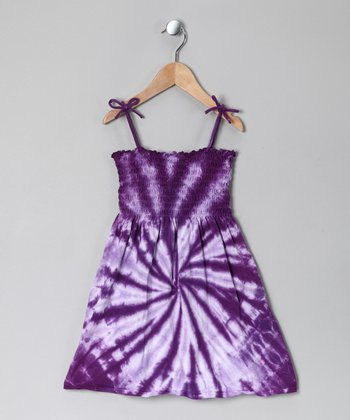 Purple Tie-Dye Sundress - Toddler & Girls
