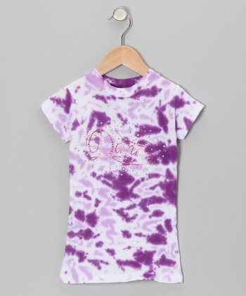 Purple Tie-Dye 'Dance' Tee - Toddler