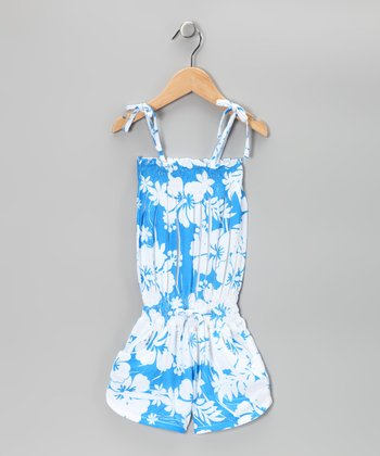 Blue Hawaiian Romper - Toddler & Girls