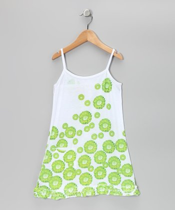 Lime Daisy Pocket Dress - Toddler