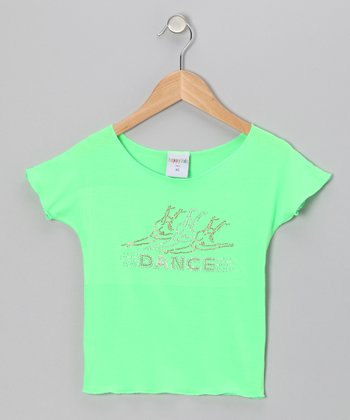 Lime 'Dance' Ballerina Crop Top - Toddler & Girls