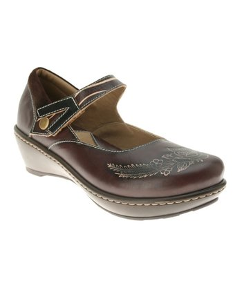 Brown Leather Demitria Mary Jane