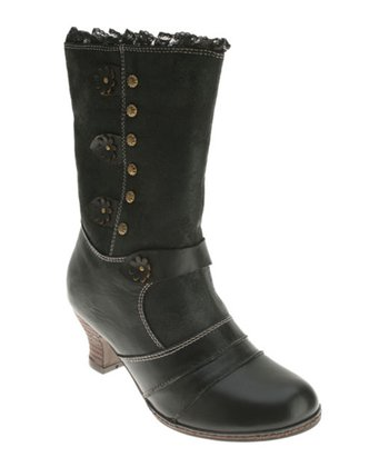 Black Leather Savvy Boot
