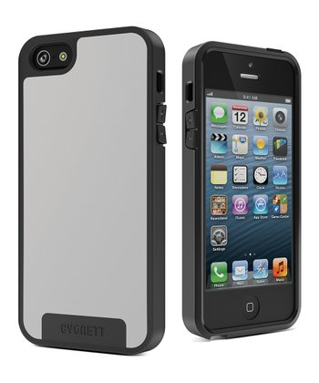 White & Gray Apollo Case & Screen Protector for iPhone 5
