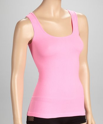 Pink Seamless Ribbed Tank - Women