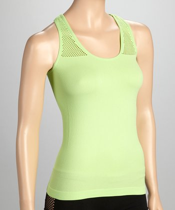 Lime Fishnet Racerback Tank