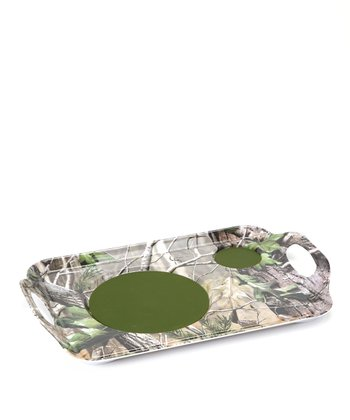 Camo Handled Dining Tray - Set of Two