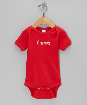 Red Personalized Bodysuit - Infant