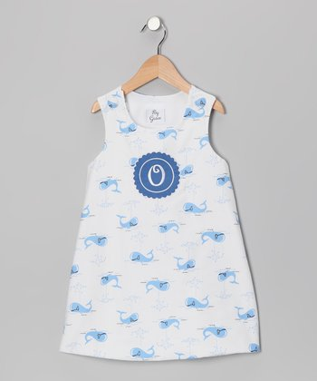 Blue Whale Initial Jumper - Infant