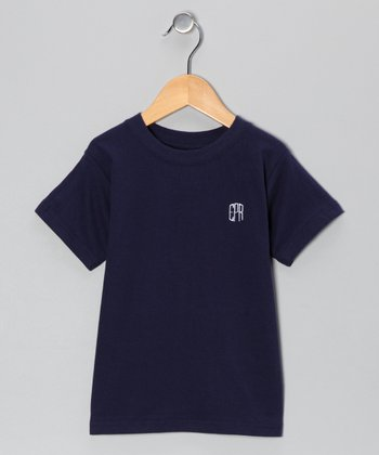 Navy Monogram Tee - Toddler & Kids