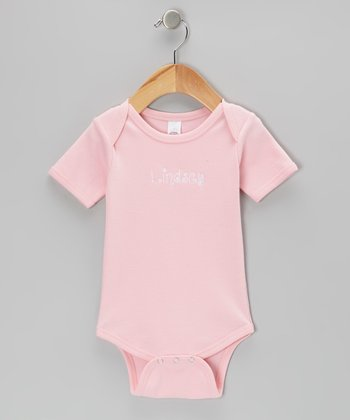 Light Pink Personalized Bodysuit - Infant