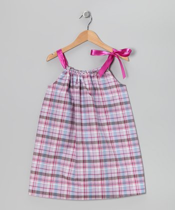 Purple Plaid Swing Dress - Infant & Toddler