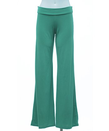 Kelly Green Palazzo Pants - Women